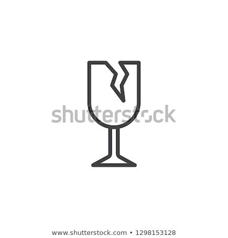 битое · стекло · иллюстрация · окна · кадр · синий · черный - Сток-фото © rastudio