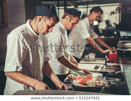 set of kitchen aprons 3 Stock photo © Olena