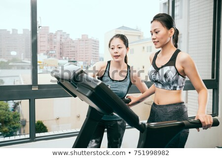 Personal Trainer Showing Woman How To Use Treadmill Stock photo © monkey_business