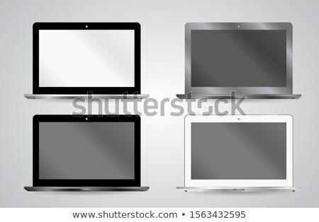 Portefeuille demonstratie laptop moderne werkplek Stockfoto © tashatuvango