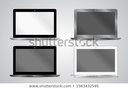 portfolio demonstration on laptop in modern workplace background stock photo © tashatuvango