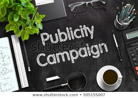 Fekete tábla kampány 3D renderelt kép kézzel írott Stock fotó © tashatuvango