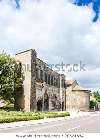 porte saint andre autun burgundy france stock photo © phbcz