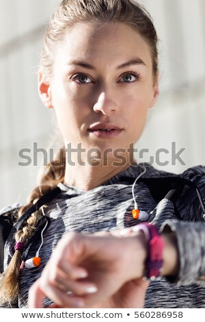 woman relaxing after race Stock photo © IS2