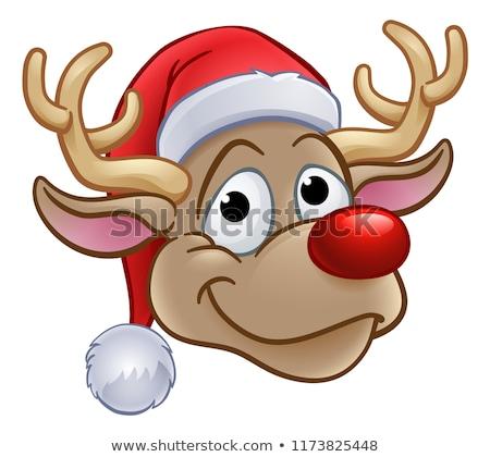 Noel baba sevimli yüz örnek clipart görüntü Stok fotoğraf © vectorworks51