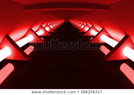 Stok fotoğraf: Abstract Modern Architecture Background Empty Open Space Interi