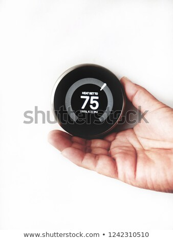 modern programmable thermostat on white background Stock photo © place4design