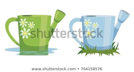 Azul regador vetor desenho animado ilustração isolado Foto stock © RAStudio