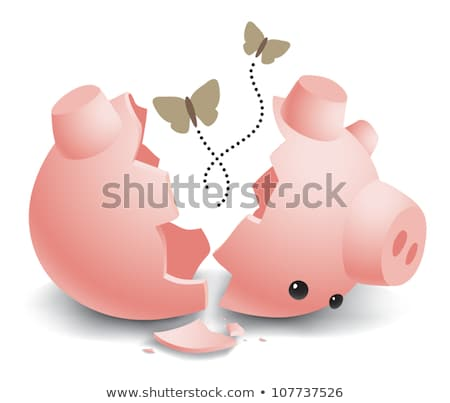 Moth flying out of piggy bank Stock photo © IS2