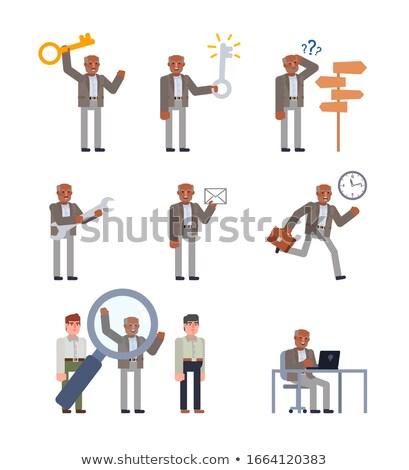 indiano · empresários · isolado · grande · conjunto · diferente - foto stock © studioworkstock