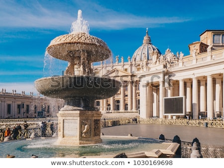 st peter square fountain vatican stock photo © joyr