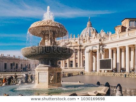 Tér szökőkút Vatikán szent Róma víz Stock fotó © joyr