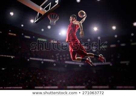 Kosárlabdázó fiatalság férfi gól áll meglepetés Stock fotó © IS2