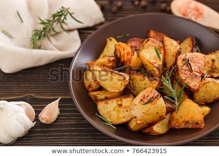 Patates biberiye ahşap Stok fotoğraf © M-studio