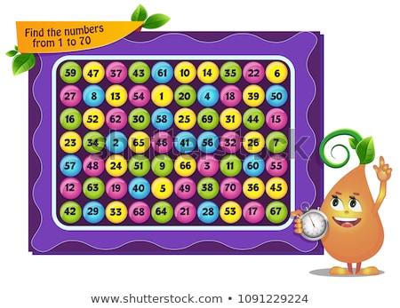 見つける 番号 ゲーム 子供 大人 タスク ストックフォト © Olena