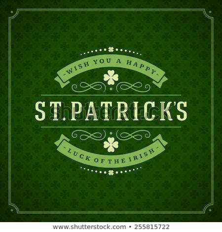 Dia projeto verde folha irlandês Foto stock © articular