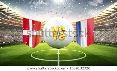 Zdjęcia stock: Piłka · nożna · meczu · Dania · vs · Francja · piłka · nożna