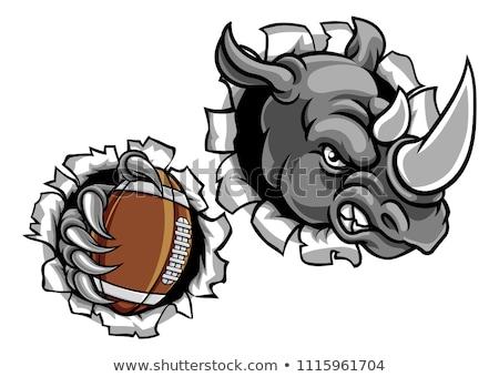 Rhino American Football Ball Breaking Background Stock photo © Krisdog