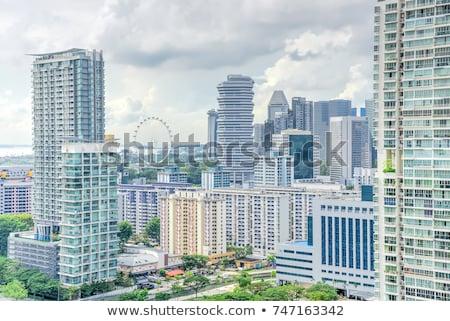 Singapore immobiliari condominio cielo home Foto d'archivio © joyr