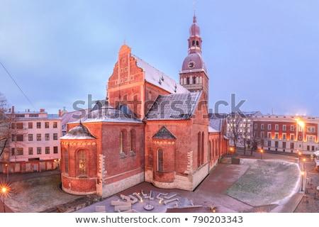 リガ 大聖堂 1泊 ラトビア 空 風景 ストックフォト © benkrut