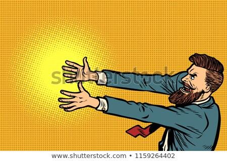 louco · desenho · animado · empresário · conjunto · engraçado - foto stock © studiostoks