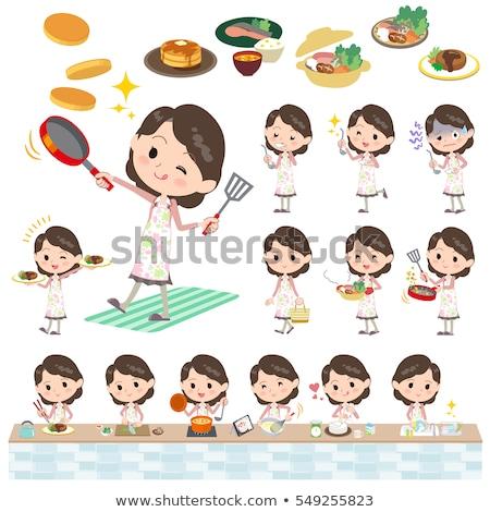 Westerse keuken kok ingesteld internet Stockfoto © toyotoyo