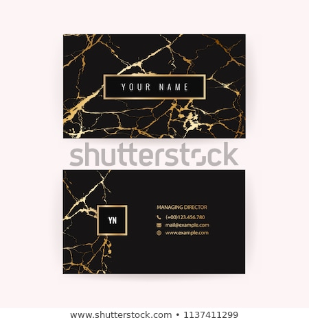 modern geometric marble business card Stock photo © SArts