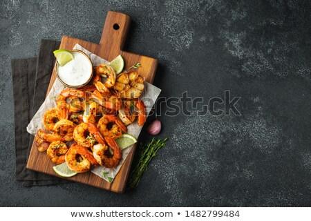 Grilled Prawn Shrimp Stock photo © YuliyaGontar