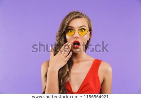 kép · európai · nő · 20-as · évek · visel · esőkabát - stock fotó © deandrobot