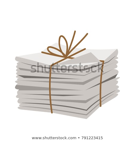 Paper Pile Tied with Lace Vector Illustration Stock photo © robuart