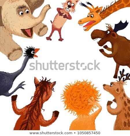 Talking Cartoon Ostrich Stock photo © cthoman