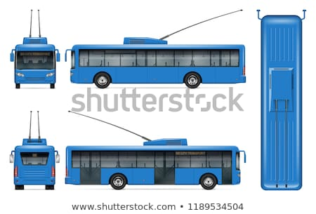 青 · バス · ベクトル · 広告 · 企業 - ストックフォト © yurischmidt