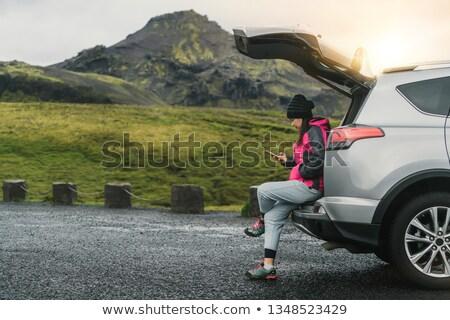 Tél utazás Izland férfi elvesz képek Stock fotó © Anna_Om