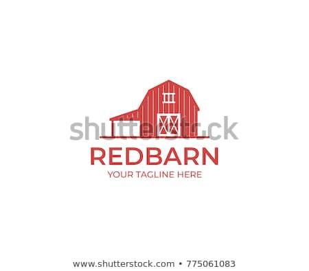 Kırmızı ahır çim ev arka plan mimari Stok fotoğraf © colematt