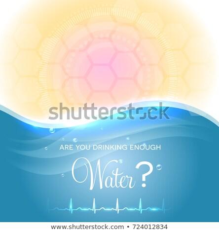 Cartaz potável suficiente água urina Foto stock © Tefi