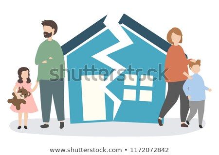 Issues Family Broken Home Illustration Stock photo © lenm