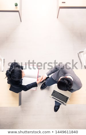 熱狂的な · ビジネスマン · 2 · 孤立した · 白 - ストックフォト © yongtick