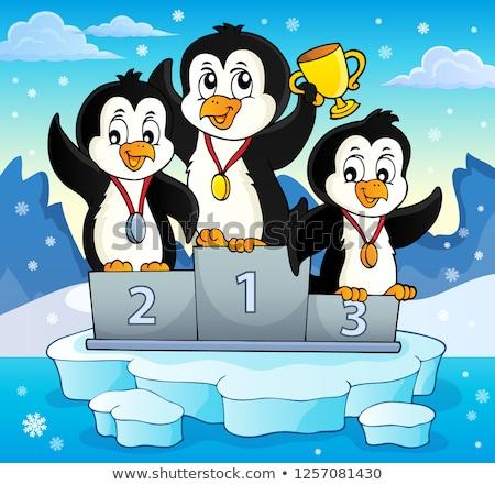 penguin winners theme image 3 stock photo © clairev