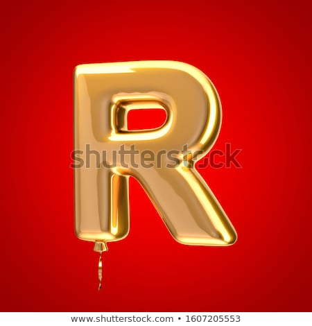 Red glossy font Letter R 3D Stock photo © djmilic