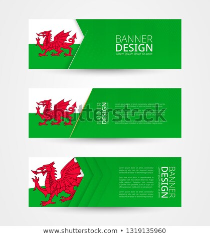 Folder with flag of wales Stock photo © MikhailMishchenko
