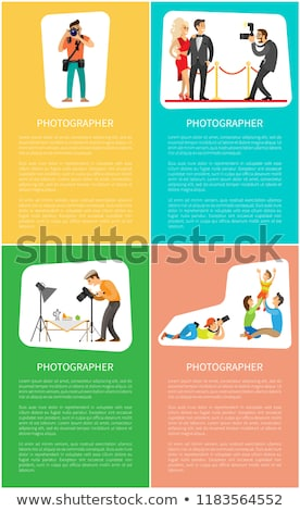 Photographer Profession and Genres Promo Banners Stock photo © robuart