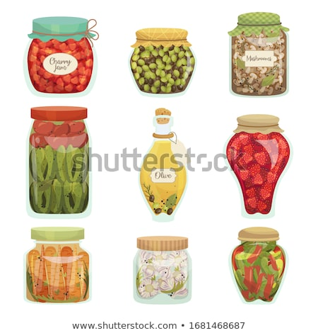 Canned Pickled Vegetable Mix in Glass Jar Vector Stock photo © robuart
