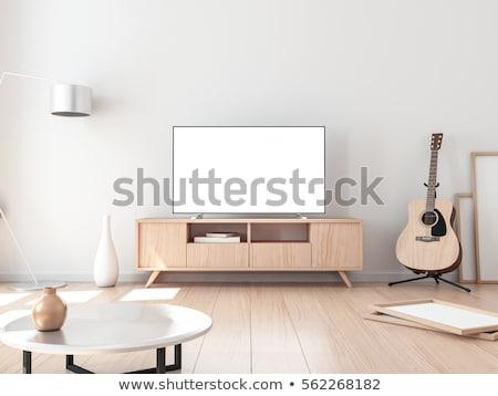 tv · kamer · interieur · 3D · salon - stockfoto © nobilior