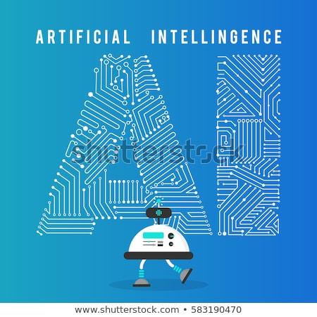 Artificial Intelligence Map and Person Vector Stock photo © robuart
