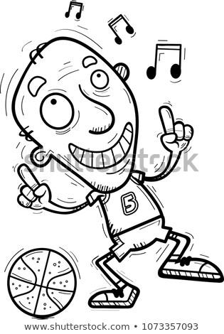 Cartoon senior dancing illustrazione Foto d'archivio © cthoman
