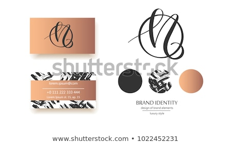 letter n logo logotype collection set icon n vector design Stock photo © blaskorizov