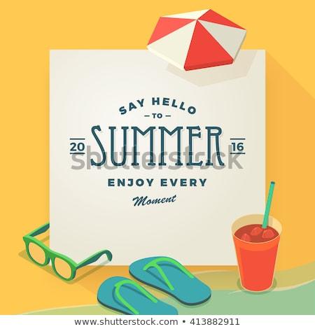 A summer template with an island Stock photo © colematt