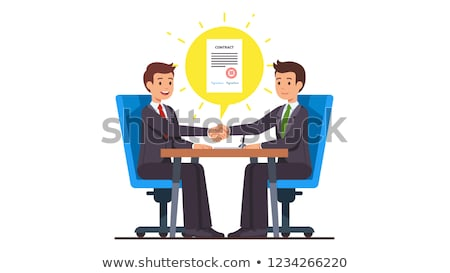 Manager Shaking Hands With Colleague After Business Meeting For Contract Stock photo © diego_cervo