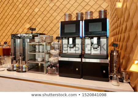 coffee maker in a cafe Stock photo © tarczas