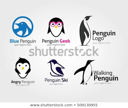 penguin vector logo icon symbol Stock photo © blaskorizov